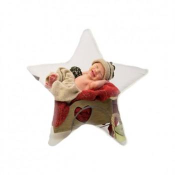 Almofada em forma de estrela com pêlo